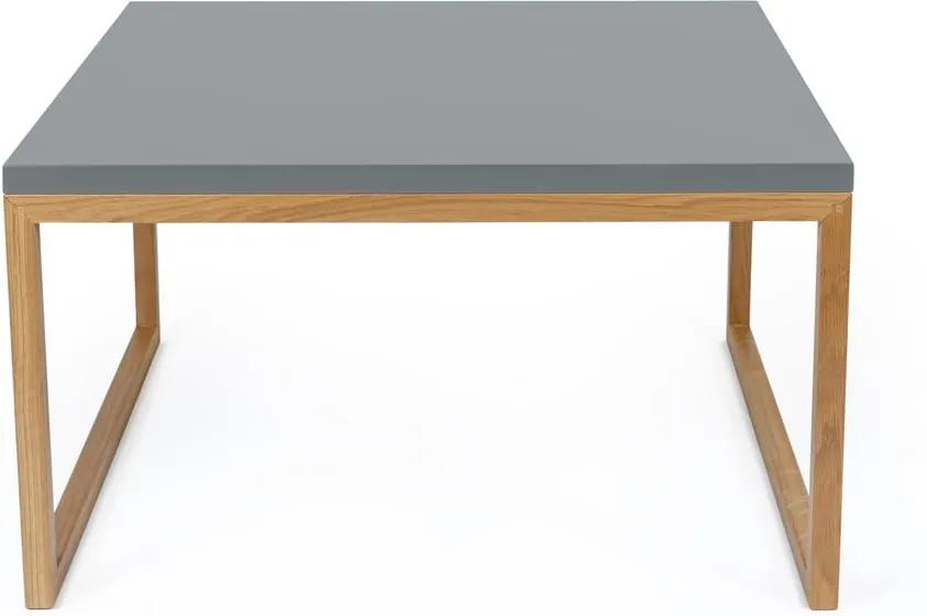 Sivý konferenčný stolík Woodman Cubis