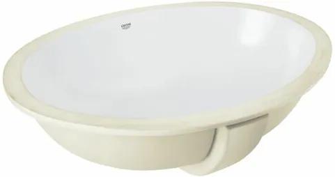 Zápustné umývadlo Grohe Bau Ceramic 56x42 cm alpská biela bez otvoru pre batériu 39423000