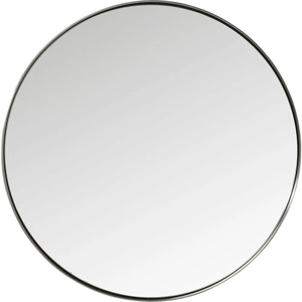 Okrúhle zrkadlo s čiernym rámom Kare Design Round Curve, ⌀ 100 cm