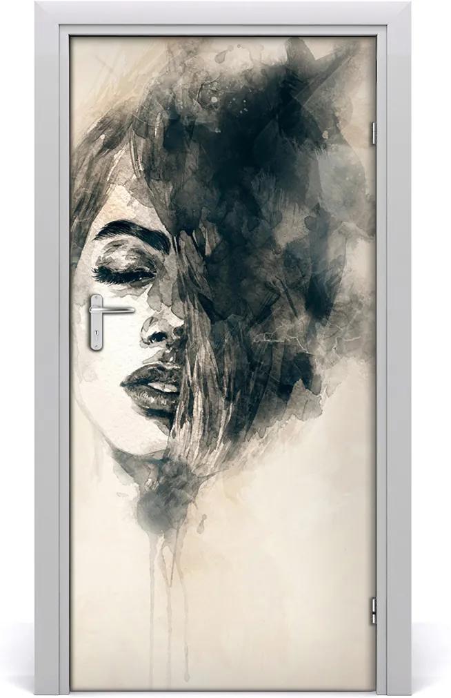 Samolepiace fototapety na dvere  abstrakcie žena