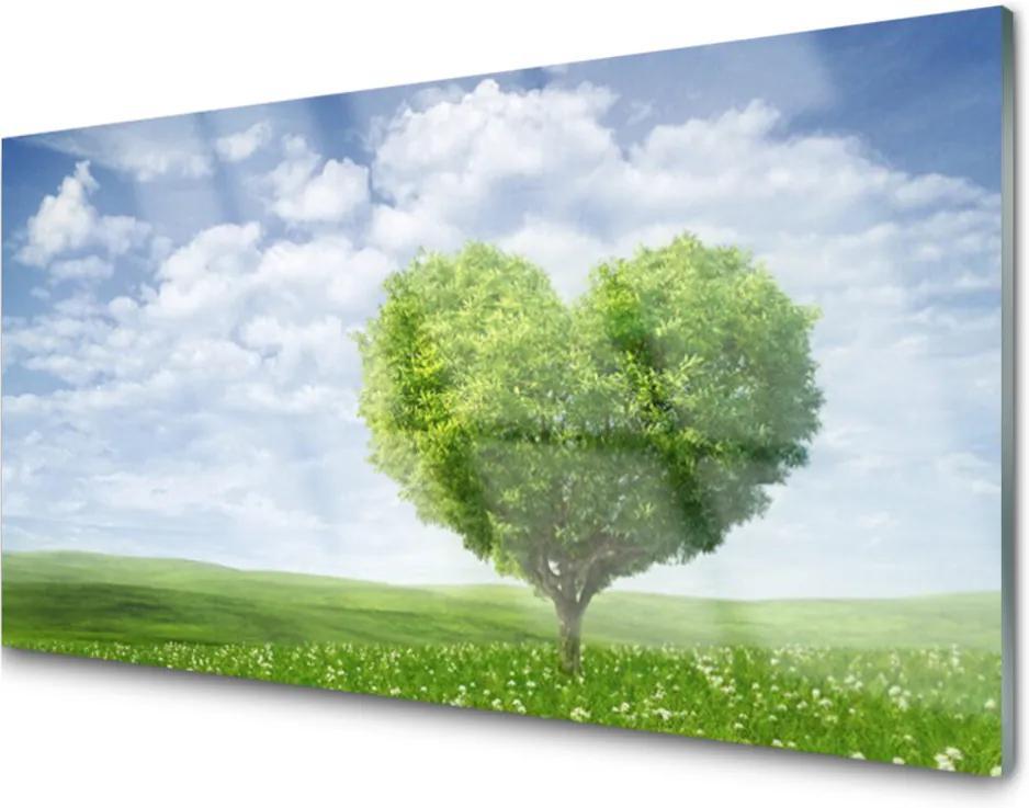 Skleněný obraz Strom srdce příroda