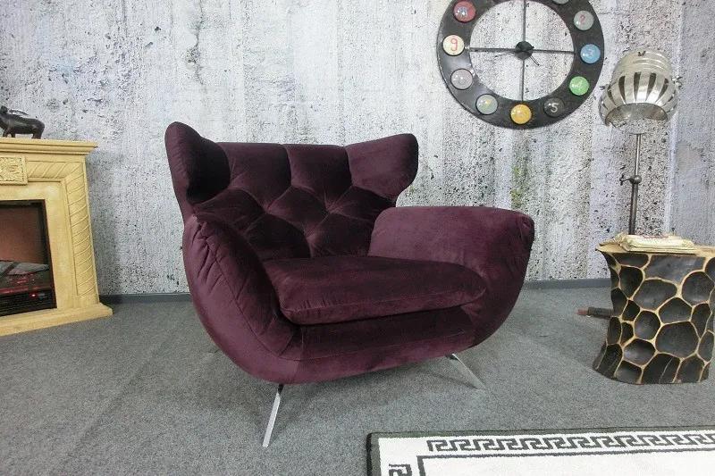 (2701) SIXTY moderné kreslo fialové