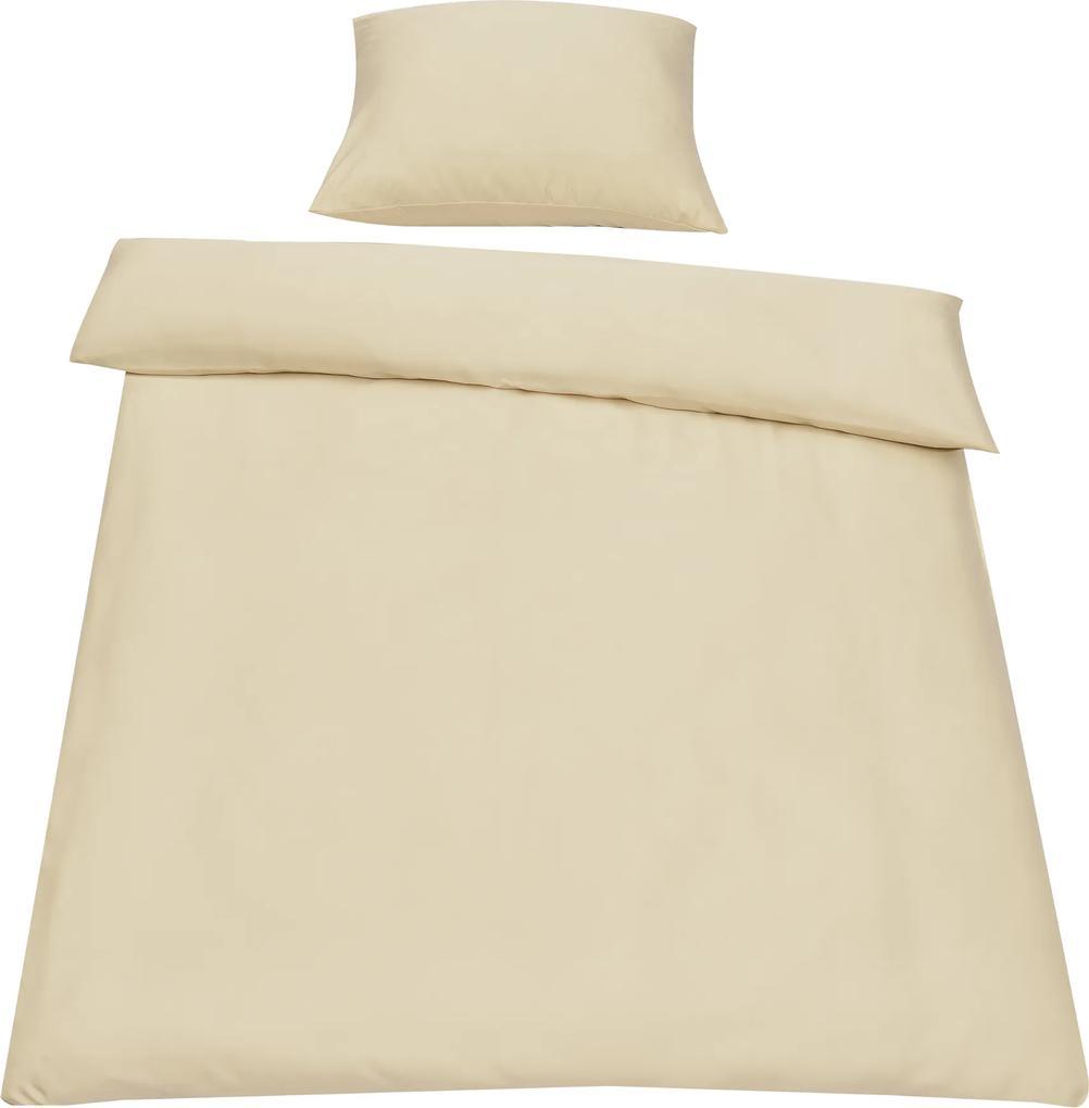 [neu.haus]® Posteľná bielizeň (na prikrývku + vankúš) - béžová - 135x200