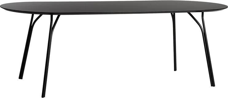 """Jedálenský stôl """"Tree"""", 220 cm, 3 varianty - Woud Varianta: čierna, čierne nohy"""