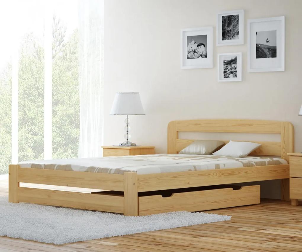 AMI nábytok Posteľ borovica Saša 120x200