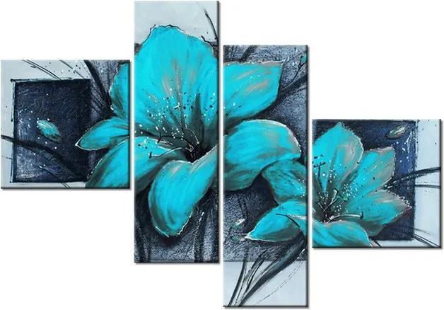 Tlačený obraz Nádherné modré Vlčie maky 100x70cm 2458A_4B