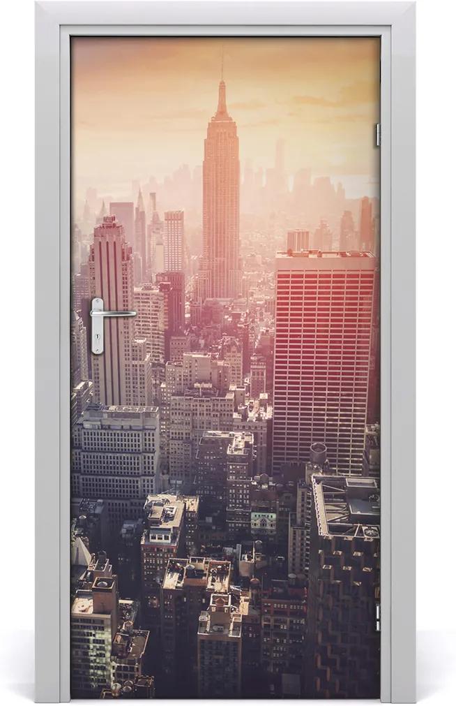 Fototapeta samolepící dveře New york panorama