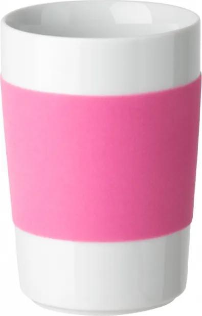 Kahla - Veľký pohár s ružovým pásom Kahla touch! 350ml (K100104)