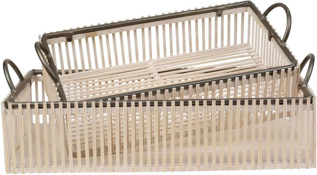 CÔTÉ TABLE Dekoratívny úložný box White Wood Väčší
