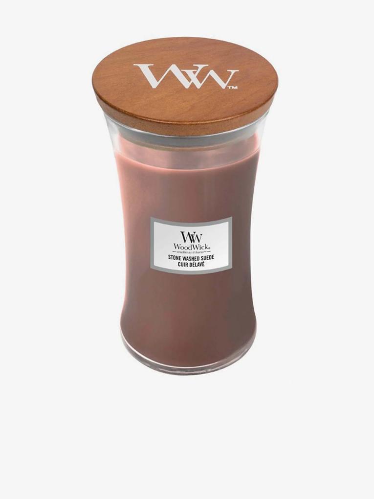 WoodWick vonná sviečka Stone Washed Suede stredná váza