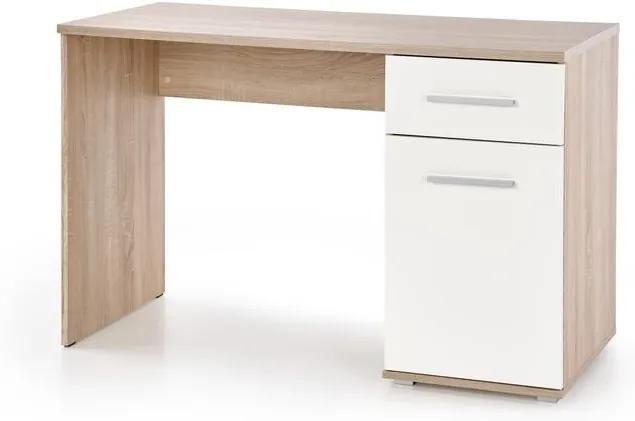 PC stôl Lenka, sonoma / biela