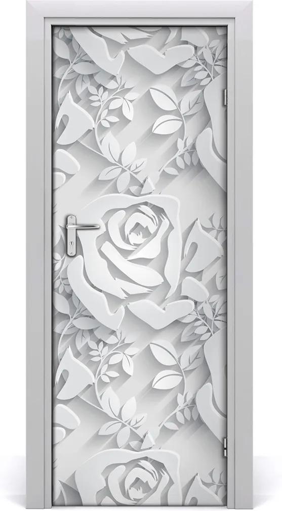 Samolepiace fototapety na dvere  ruže