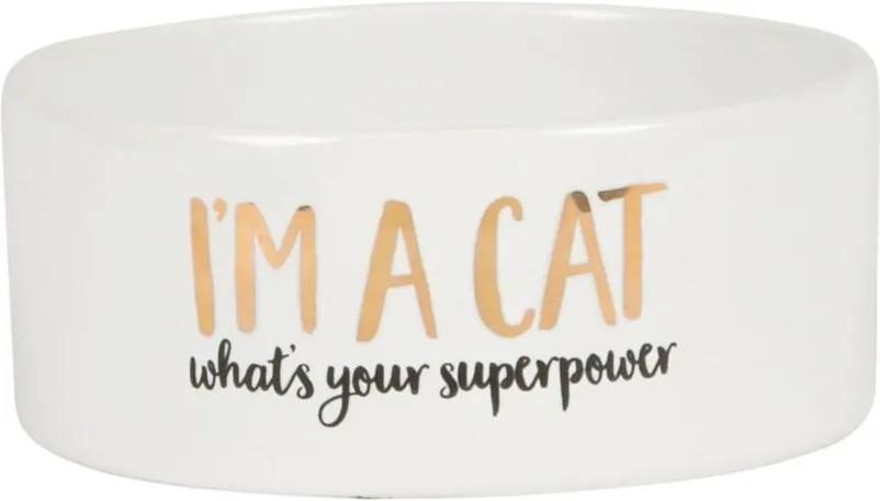 Sass & belle Keramická miska pre mačku I'm a cat