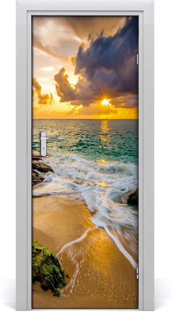Fototapeta na dveře Západ slunce moře
