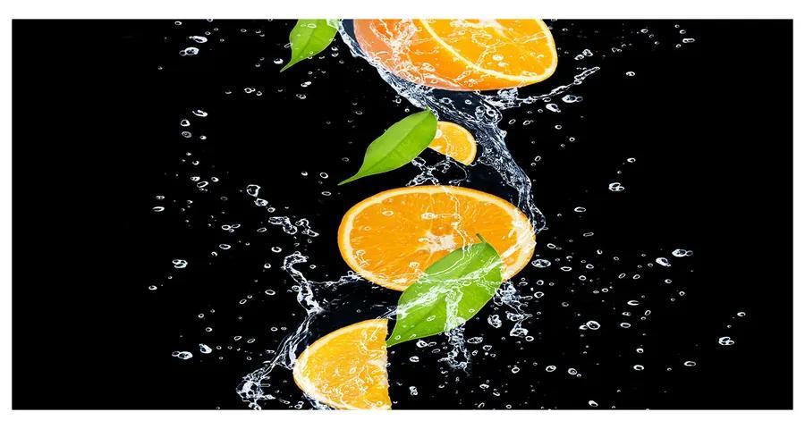 Foto obraz akrylový Pomaranče a voda pl-oa-140x70-f-51416552