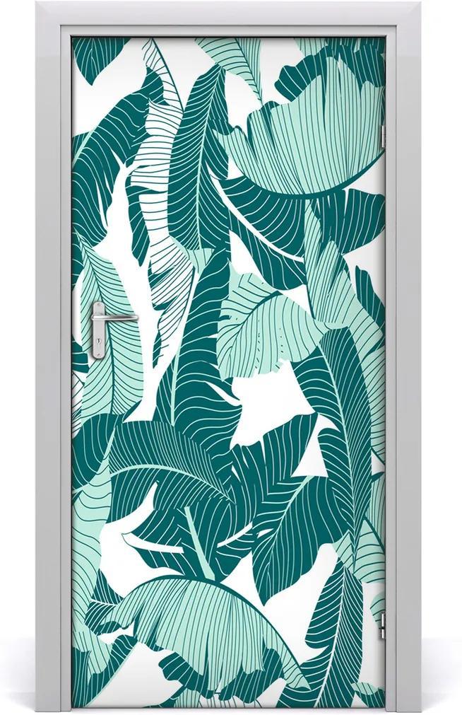 Samolepící fototapeta na dveře Tropické listí
