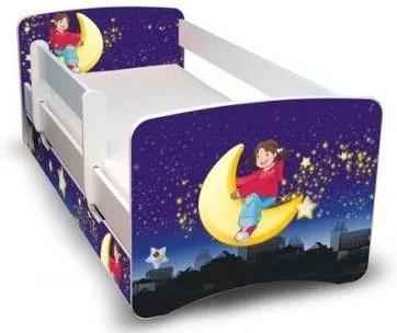 MAXMAX Detská posteľ 160x90 cm so zásuvkou - NOČNÝ LET II 160x90 pre dievča ÁNO
