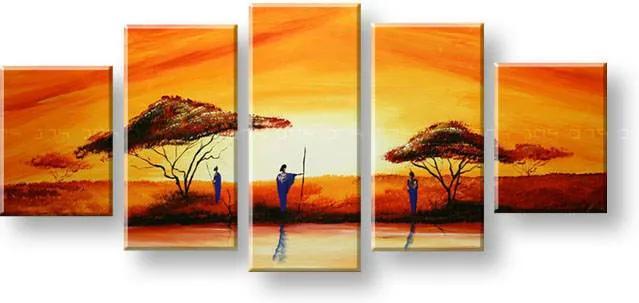 Maľovaný obraz na stenu AFRIKA FB304E5