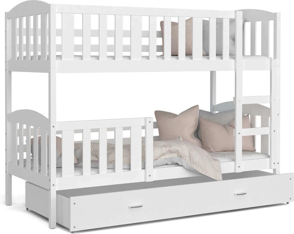 GL Poschodová posteľ biela Kuba Color Rozmer: 190x80