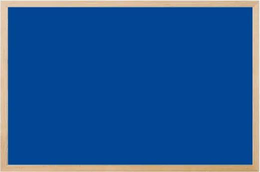 Toptabule.sk KRT04 Modrá magnetická kriedová tabuľa v prírodnom drevenom ráme 120x180cm / magneticky