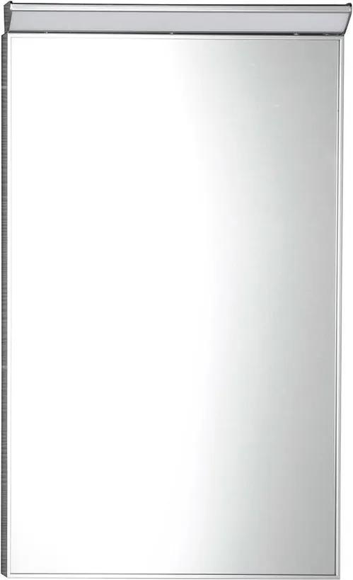 Bora AL746 zrkadlo v ráme s LED osvetlením a vypínačom 40x60 cm