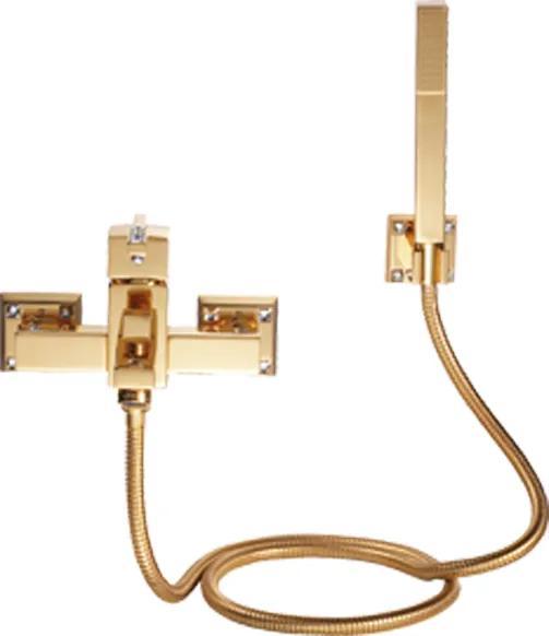 Sprchová batéria  Tria s poťahom 24k zlata