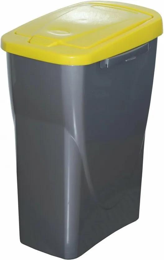 Kôš na triedený odpad 61,5 x 42 x 25 cm, žlté veko, 40 l