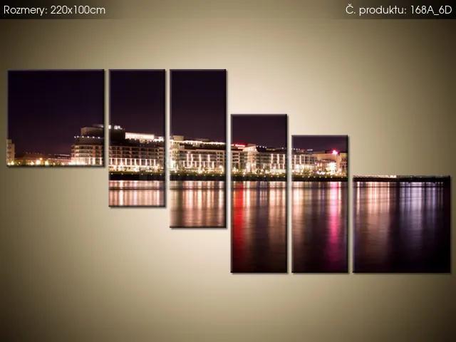 Tlačený obraz Dunaj v noci 220x100cm 168A_6D