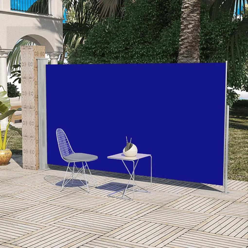 vidaXL Bočná markíza na terasy/balkóny, 180x300 cm, modrá