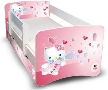 MAXMAX Detská posteľ 160x70 cm - KITTY A BUBLIFUK II 160x70 pre dievča NIE