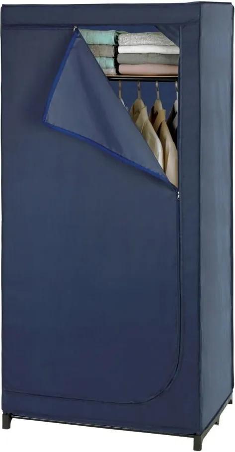 Modrá látková úložná skriňa Wenko Business, 160 x 50 x 90 cm