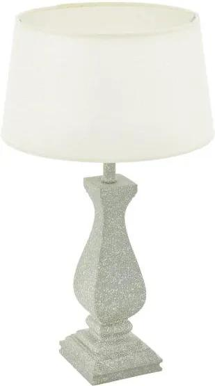 Eglo Vintage 43249 LAPLEY Stolová lampa E27 1X60W šedá/biela