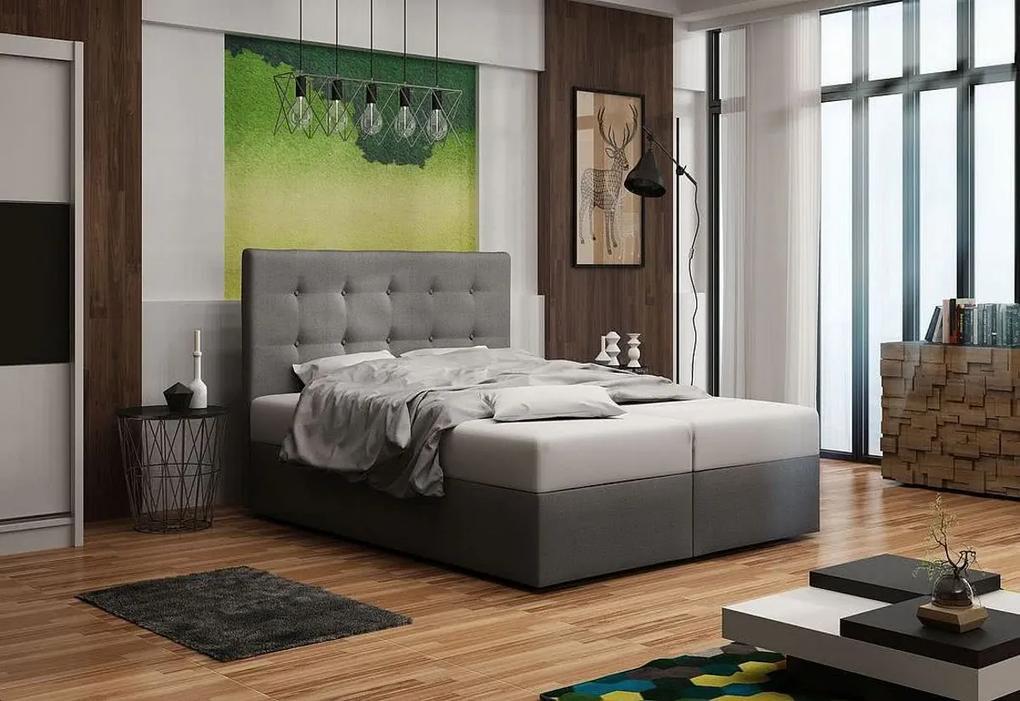 Expedo Čalúnená posteľ DOUBLE 1, cosmic 180, 180x200 cm