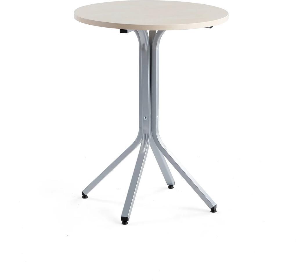 Stôl Various, Ø700x900 mm, strieborná, breza