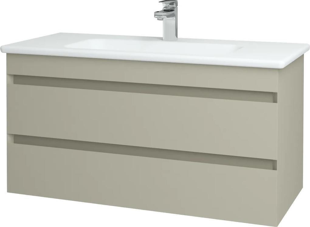 Dřevojas - Koupelnová skříň MAJESTY SZZ2 100 - M05 Béžová mat / M05 Béžová mat (172190)