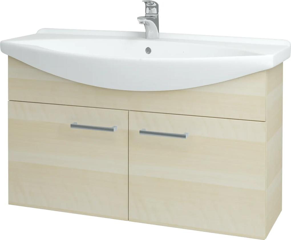 Dřevojas - Koupelnová skříň TAKE IT SZD2 105 - D02 Bříza / Úchytka T03 / D02 Bříza (133450C)