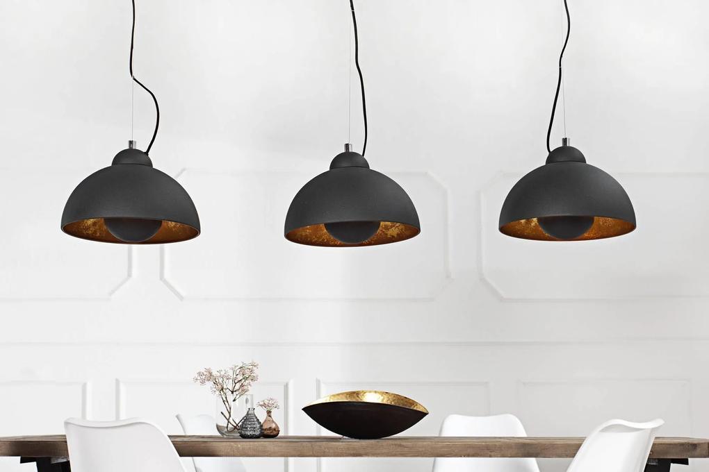 Dizajnová závesná lampa STAGE 3 čierna/zlatá