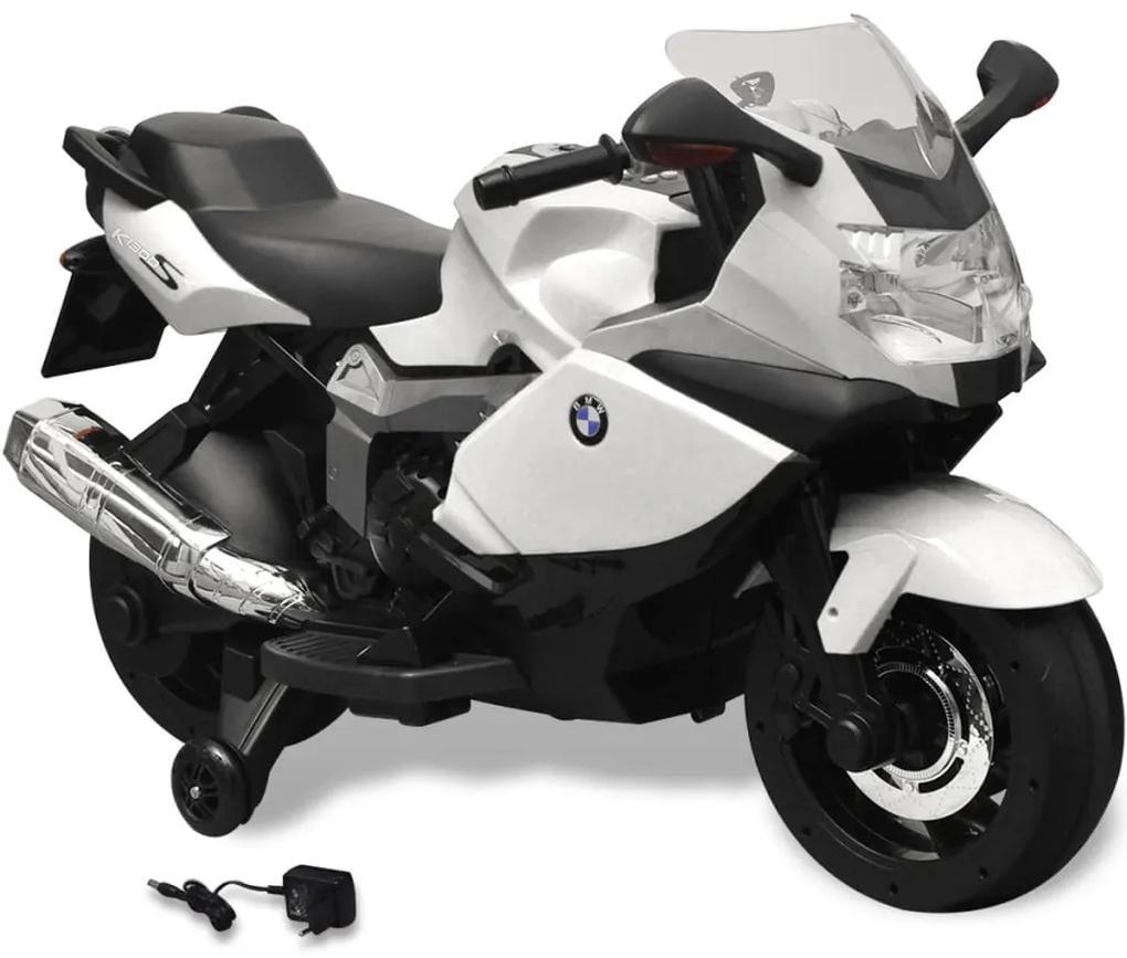 vidaXL Elektrická motorka pre deti, biela BMW 283 6 V