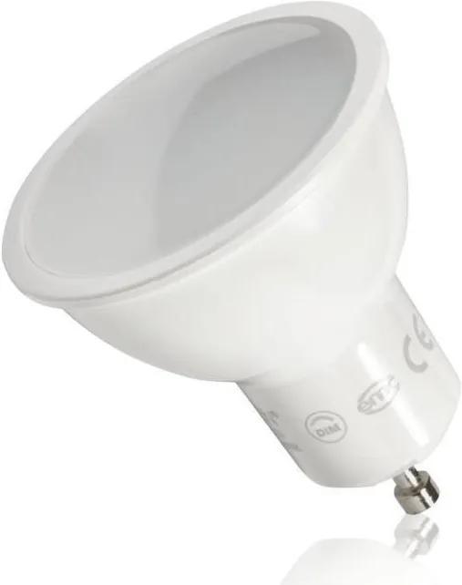 LEDlumen Stmievateľná LED žiarovka 7W 105° Teplá biela GU10