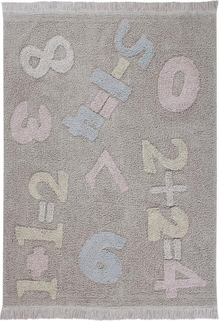 Lorena Canals koberce Ručně tkaný kusový koberec Baby Numbers - 140x200 cm