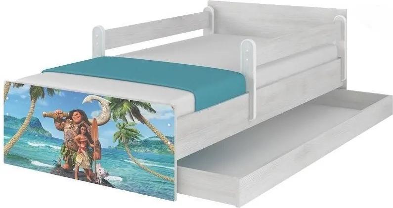MAXMAX Detská posteľ MAX sa zásuvkou Disney - MOANA 200x90 cm 200x90 pre dievča|pre chlapca|pre všetkých ÁNO