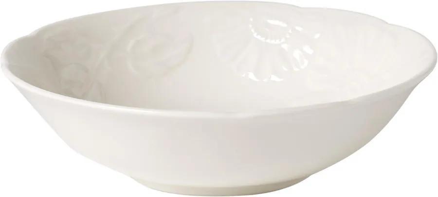Kompótová miska 15 cm Rose Sauvage blanche