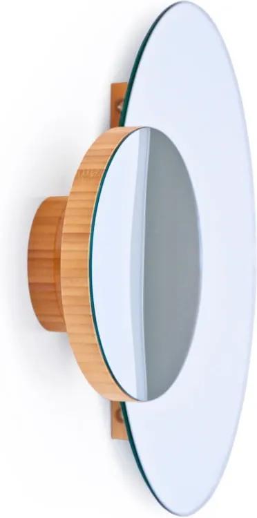 Nástenné zrkadlo Wireworks Eclipse Bamboo