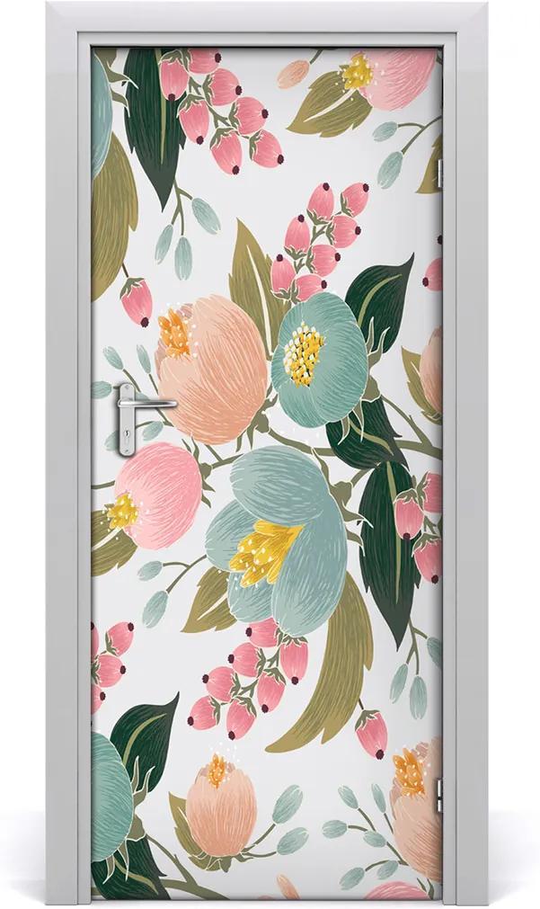 Samolepící fototapeta na dveře Jarní květiny