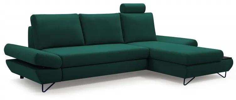 Hector Rohová rozkladacia pohovka Loft zelená pravá