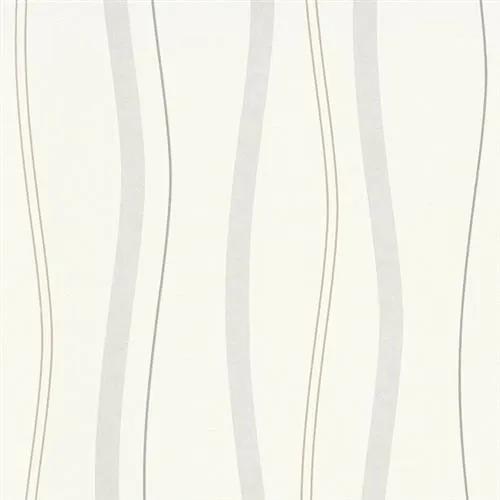 Vliesové tapety na stenu Natural Living 5401-31, rozmer 10,05 m x 0,53 cm, vlnovky hnedo-sivé, Erismann