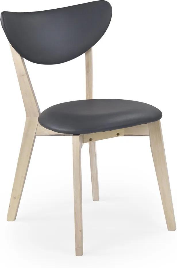 HALMAR Polo jedálenská stolička sivá / white wash