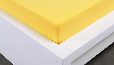 XPOSE ® Jersey prostěradlo dvoulůžko - žlutá 180x200 cm