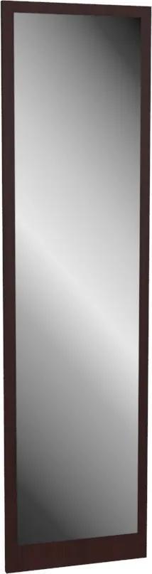 Luxusné nástenné zrkadlo obdĺžnikové 150 x 40 cm dekor wenge