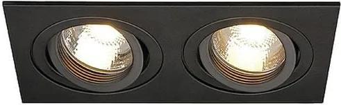 Zápustné - podhľadové svietidlo SLV NEW TRIA II GU10 čierna 113492